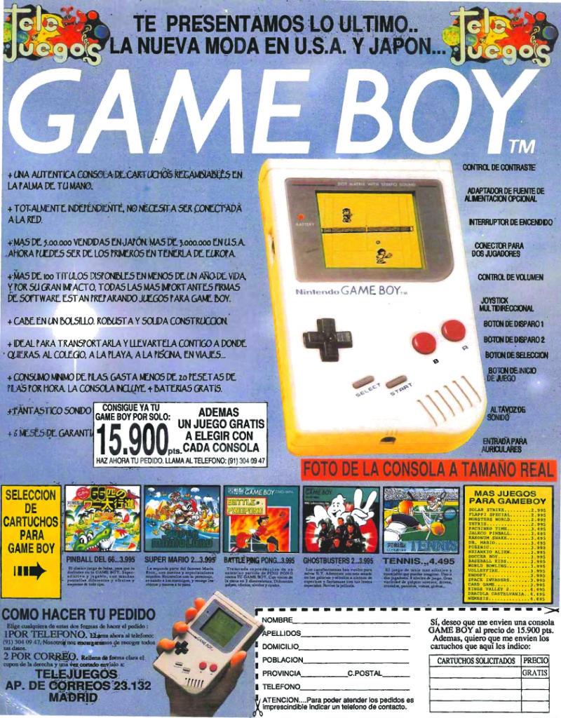 Publicidad Game Boy Tele Juegos