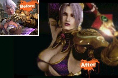 La evolución de los pechos de Ivy en Soul Calibur IV